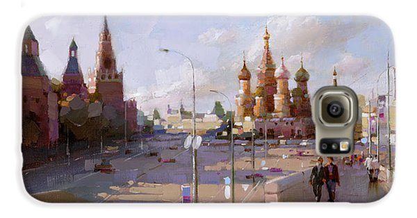 Moscow. Vasilevsky Descent. Views Of Red Square. Galaxy S6 Case by Ramil Gappasov