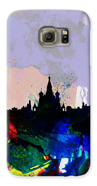 Moscow Watercolor Skyline Galaxy S6 Case by Naxart Studio