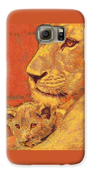 Mother And Cub Galaxy S6 Case by Jane Schnetlage