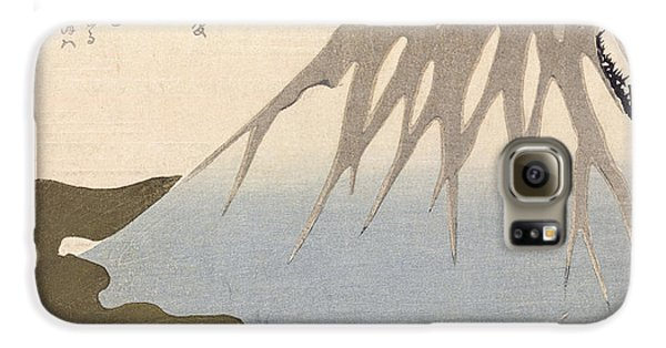 Mount Fuji Under The Snow Galaxy S6 Case by Toyota Hokkei