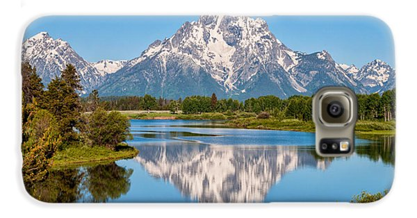 Mount Moran On Snake River Landscape Galaxy S6 Case by Brian Harig