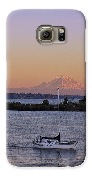 Mt. Rainier Afterglow Galaxy S6 Case by Adam Romanowicz
