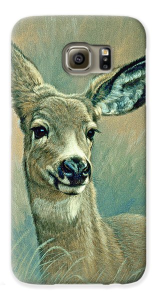 Muley Fawn At Six Months Galaxy S6 Case by Paul Krapf