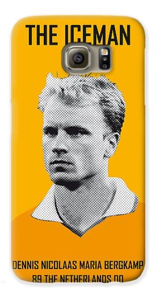 My Bergkamp Soccer Legend Poster Galaxy S6 Case by Chungkong Art