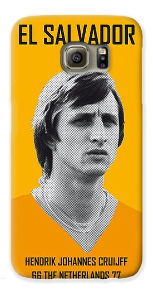 My Cruijff Soccer Legend Poster Galaxy S6 Case by Chungkong Art