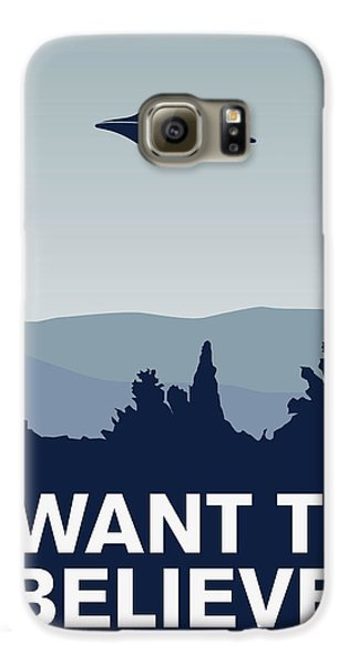 My I Want To Believe Minimal Poster-xfiles Galaxy S6 Case by Chungkong Art