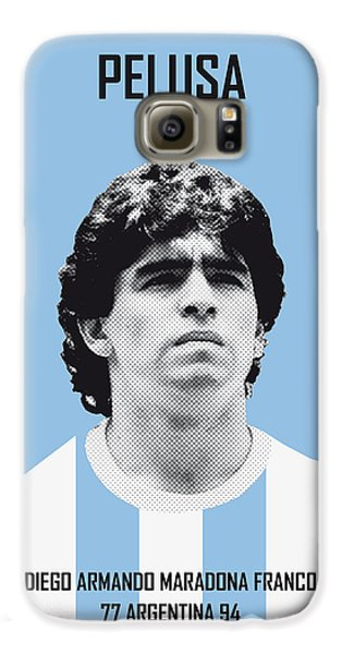 My Maradona Soccer Legend Poster Galaxy S6 Case by Chungkong Art
