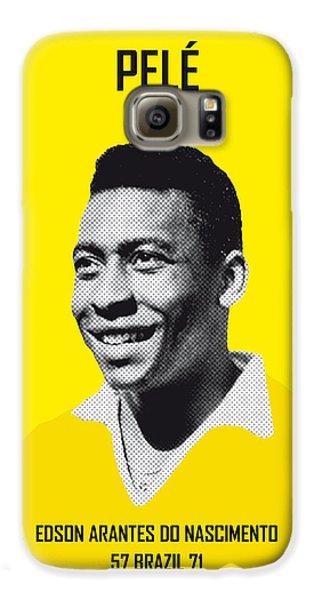 My Pele Soccer Legend Poster Galaxy S6 Case by Chungkong Art