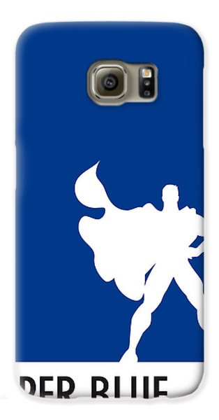 My Superhero 03 Super Blue Minimal Poster Galaxy S6 Case by Chungkong Art