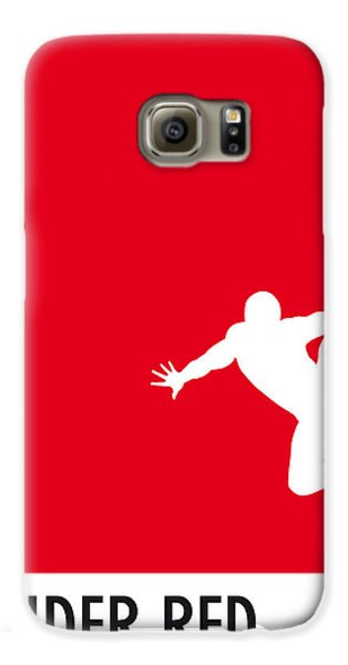 My Superhero 04 Spider Red Minimal Poster Galaxy S6 Case by Chungkong Art