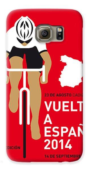 My Vuelta A Espana Minimal Poster 2014 Galaxy S6 Case by Chungkong Art