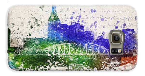 Nashville In Color Galaxy S6 Case by Aged Pixel