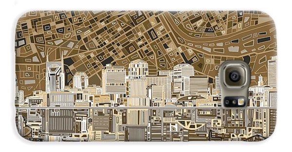 Nashville Skyline Abstract 2 Galaxy S6 Case by Bekim Art