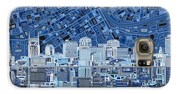 Nashville Skyline Abstract Galaxy S6 Case by Bekim Art