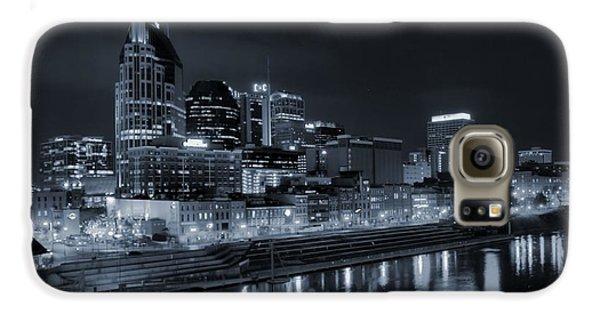 Nashville Skyline At Night Galaxy S6 Case by Dan Sproul