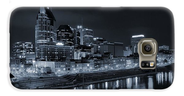Nashville Skyline At Night Galaxy S6 Case by Dan Sproul