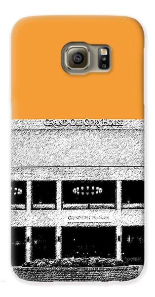 Nashville Skyline Grand Ole Opry - Orange Galaxy S6 Case by DB Artist