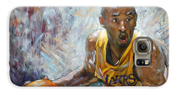 Nba Lakers Kobe Black Mamba Galaxy S6 Case by Ylli Haruni