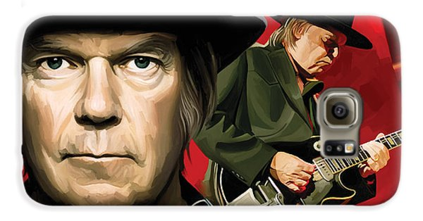 Neil Young Artwork Galaxy S6 Case by Sheraz A