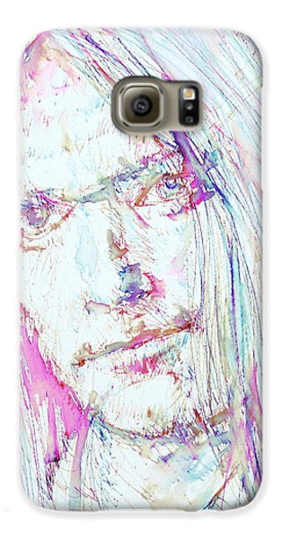 Neil Young - Colored Pens Portrait Galaxy S6 Case by Fabrizio Cassetta