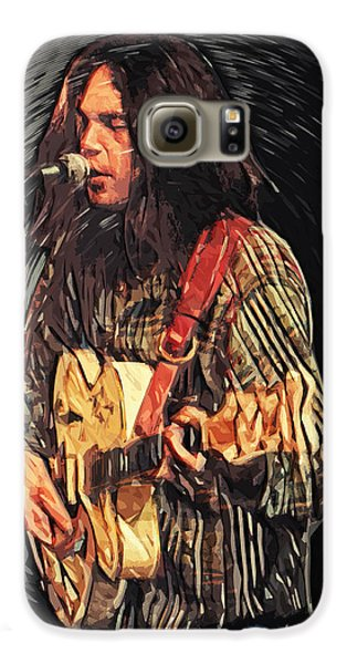 Neil Young Galaxy S6 Case by Taylan Soyturk