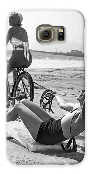 New Sport Of Ice Planing Galaxy S6 Case by Underwood Archives