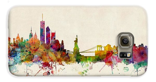 New York Skyline Galaxy S6 Case by Michael Tompsett