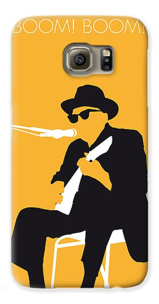 No054 My Johnny Lee Hooker Minimal Music Poster Galaxy S6 Case by Chungkong Art
