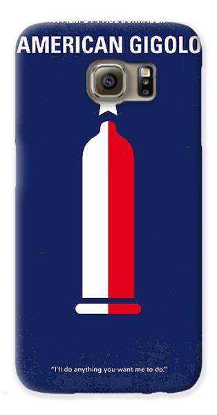 No150 My American Gigolo Minimal Movie Poster Galaxy S6 Case by Chungkong Art