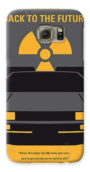 No183 My Back To The Future Minimal Movie Poster Galaxy S6 Case by Chungkong Art