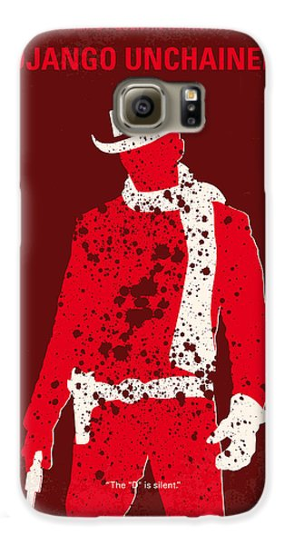 No184 My Django Unchained Minimal Movie Poster Galaxy S6 Case by Chungkong Art