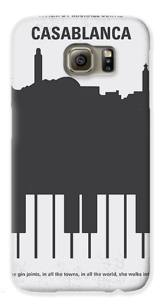 No192 My Casablanca Minimal Movie Poster Galaxy S6 Case by Chungkong Art