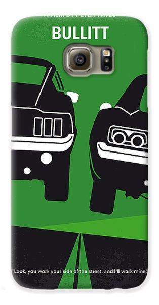 No214 My Bullitt Minimal Movie Poster Galaxy S6 Case by Chungkong Art