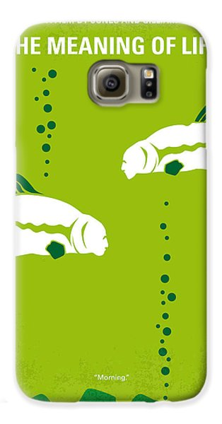 No226 My The Meaning Of Life Minimal Movie Poster Galaxy S6 Case by Chungkong Art