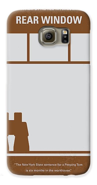 No238 My Rear Window Minimal Movie Poster Galaxy S6 Case by Chungkong Art