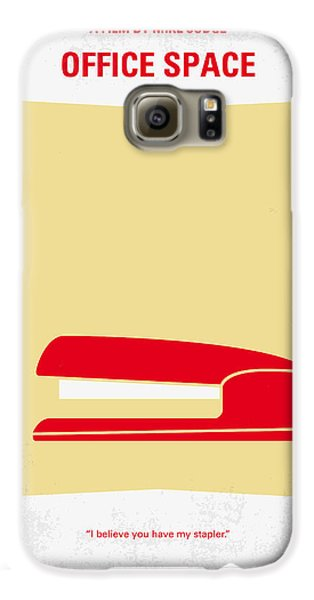 No255 My Office Space Minimal Movie Poster Galaxy S6 Case by Chungkong Art