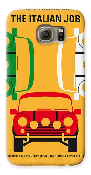 No279 My The Italian Job Minimal Movie Poster Galaxy S6 Case by Chungkong Art