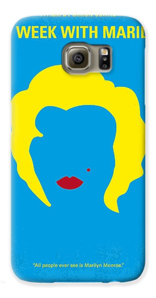 No284 My Week With Marilyn Minimal Movie Poster Galaxy S6 Case by Chungkong Art