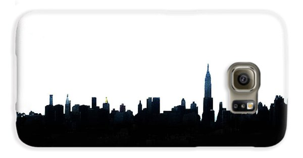 Nyc Silhouette Galaxy S6 Case by Natasha Marco