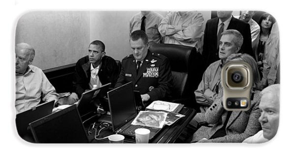 Obama In White House Situation Room Galaxy S6 Case by War Is Hell Store