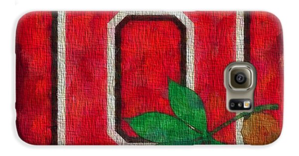 Ohio State Buckeyes On Canvas Galaxy S6 Case by Dan Sproul