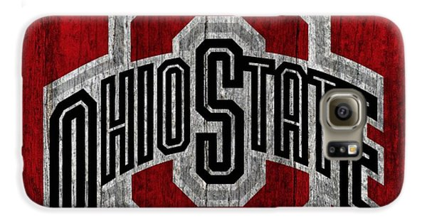 Ohio State University On Worn Wood Galaxy S6 Case by Dan Sproul