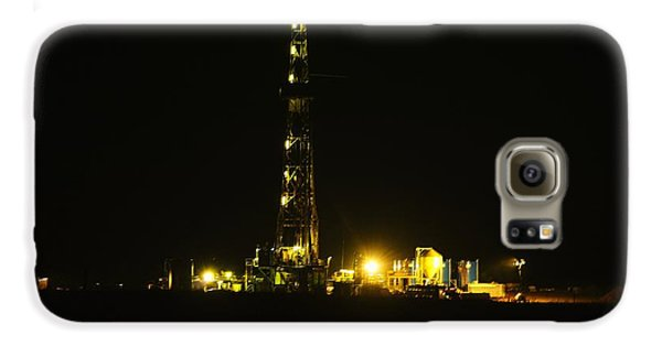 Oil Rig Galaxy S6 Case by Jeff Swan