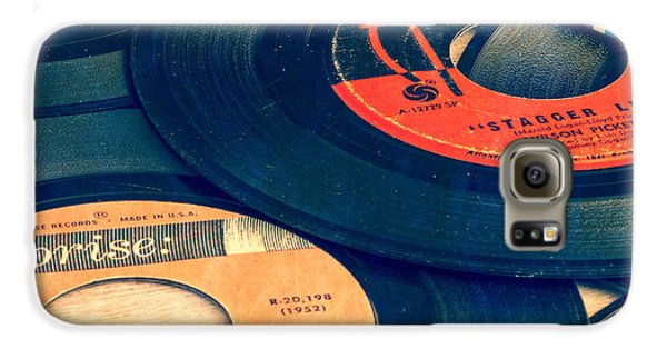 Old 45 Records Square Format Galaxy S6 Case by Edward Fielding