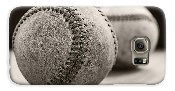 Old Baseballs Galaxy S6 Case by Edward Fielding