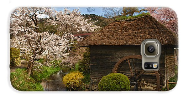 Old Cherry Blossom Water Mill Samsung Galaxy Case by Sebastian Musial