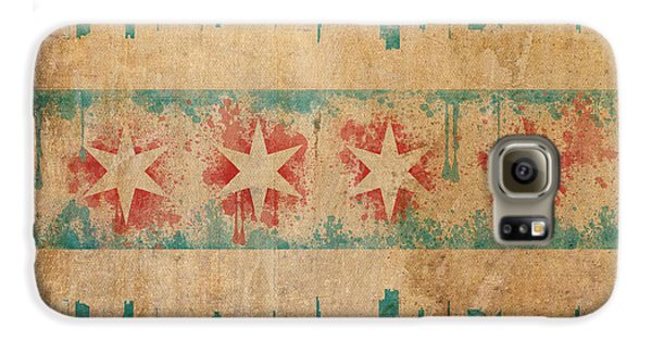 Old World Chicago Flag Galaxy S6 Case by Mike Maher