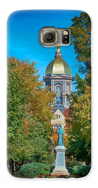 On The Campus Of The University Of Notre Dame Galaxy S6 Case by Mountain Dreams