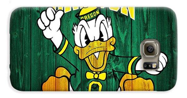 Oregon Ducks Barn Door Galaxy S6 Case by Dan Sproul
