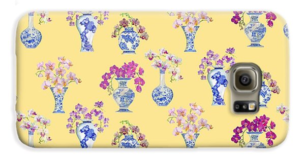 Oriental Vases With Orchids Galaxy S6 Case by Kimberly McSparran